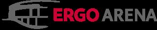 Ergo Arena logo and a link to home page